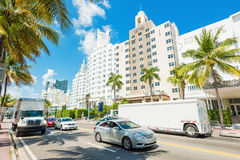 Famous art deco hotels in Miami Beach Royalty Free Stock Image
