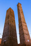 Famous Asinelli tower in Bologna Italy. Architecture background Stock Photo