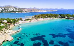 Famous Astir Beach in south Athens. Vouliagmeni, Greece Stock Photography