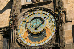 The famous astronomical clock in the center of Prague, Czech Republic Royalty Free Stock Image