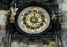 The famous astronomical clock of the old Prague's town hall with Stock Image