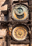 Famous astronomical clock in Old Town Square Stock Images