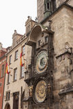 Famous astronomical clock on the Old Town Square Stock Photos