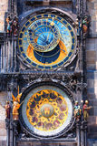 Famous astronomical clock Orloj in Prague Stock Images