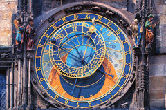Famous astronomical clock Orloj in Prague Stock Image