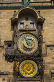 Famous Astronomical Clock Orloj In Prague Royalty Free Stock Photo