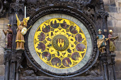 Famous astronomical clock in Prague, Czech Republic Royalty Free Stock Photos