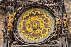 Famous astronomical clock in Prague, Czech Republic Royalty Free Stock Images