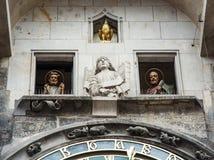 Famous astronomical clock in Prague, Czech republic Royalty Free Stock Image