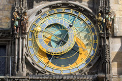 The famous astronomical clock in Prague Stock Photos