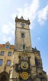 Famous Astronomical Clock in the Prague old Town Hall Royalty Free Stock Images