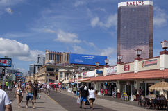 Famous Atlantic City Boardkwalk in New Jersey Royalty Free Stock Photography