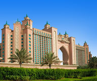 The famous Atlantis hotel on the Palm Island Royalty Free Stock Photo