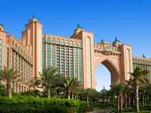 The famous Atlantis hotel on the Palm Island Royalty Free Stock Photos