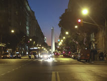 Famous Avenue in Buenos Aires Stock Photo