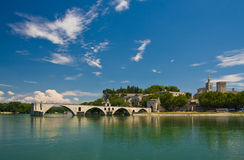 Famous Avignon Bridge royalty free stock photos