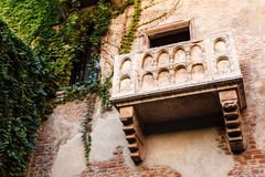 The Famous Balcony of Juliet Capulet Home Stock Photography