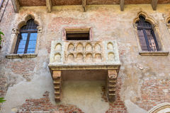 The Famous Balcony of Juliet Capulet Home in Verona. Italy Stock Photography