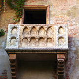 The famous balcony of Juliet`s house Stock Photo
