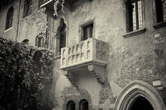 The famous balcony of Romeo and Juliet stock photos