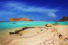 The famous Balos lagoon on Crete island Stock Photo