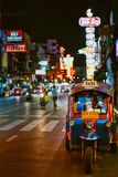 Famous bangkok moto-taxi called tuk-tuk is a landmark of the city royalty free stock images