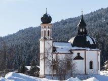 Famous baroque chapel in Austria Tirol. Stock Photos
