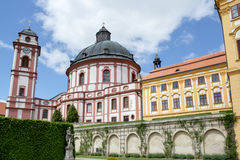 Famous Baroque chateau Jaromerice nad Rokytnou Stock Images
