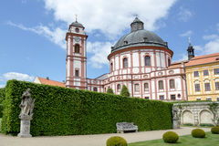 Famous Baroque chateau Jaromerice nad Rokytnou Royalty Free Stock Photo