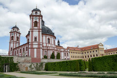 Famous Baroque chateau Jaromerice nad Rokytnou Stock Photo