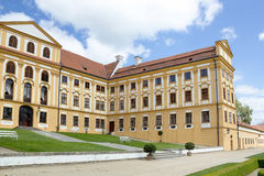Famous Baroque chateau Jaromerice nad Rokytnou Royalty Free Stock Images