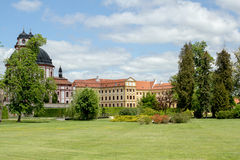 Famous Baroque chateau Jaromerice nad Rokytnou Stock Photos