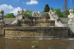 Famous baroque fountain. Royalty Free Stock Images