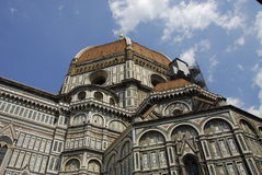 Famous bascilica in Florence. A view of the beautiful and distinct dome of the Basilica di Santa Maria del Fiore in Florence, Italy Royalty Free Stock Images