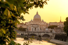 Famous Basilica di San Pietro in Vatican, Rome, Italy Stock Images