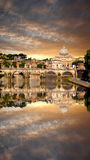 Famous Basilica Di San Pietro in Vatikaan, Rome, Italië Royalty-vrije Stock Afbeelding