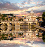 Famous Basilica di San Pietro in Vatikan, Rom, Italien Stockfoto