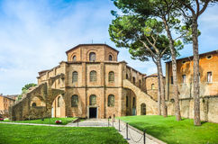 Famous Basilica di San Vitale en Ravena, Italia Foto de archivo libre de regalías