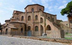 Famous Basilica di San Vitale, Ravenna, Italy Royalty Free Stock Image