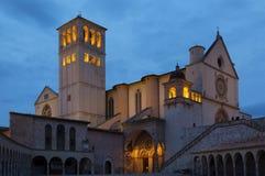 Famous Basilica of Saint Francis of Assisi Stock Photos