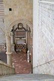 Famous Basilica of St. Francis of Assisi Basilica Papale di San Francesco. ASSISI, ITALY 30 JUNE, 2017: Famous Basilica of St. Francis of Assisi Basilica Papale Stock Photo