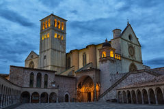 Famous Basilica of St. Francis of Assisi Stock Images