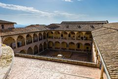 Famous Basilica of St. Francis of Assisi Basilica Papale di San royalty free stock image