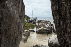 Famous The Baths on Virgin Gorda, British Virgin Islands Stock Photo