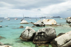 Famous The Baths on Virgin Gorda, British Virgin Islands Royalty Free Stock Photography