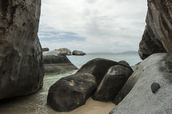 Famous The Baths on Virgin Gorda, British Virgin Islands Royalty Free Stock Photos