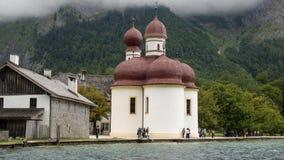 Famous bavarian church st. bartholomae royalty free stock photo