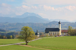 Famous bavarian pilgrimage church wilparting Stock Photo