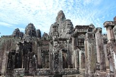 Famous Bayon temple inside Angkor Thom Stock Image