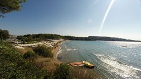 The famous beach  of Bouliagmeny, in the suburbs of Athens, Greece. stock video